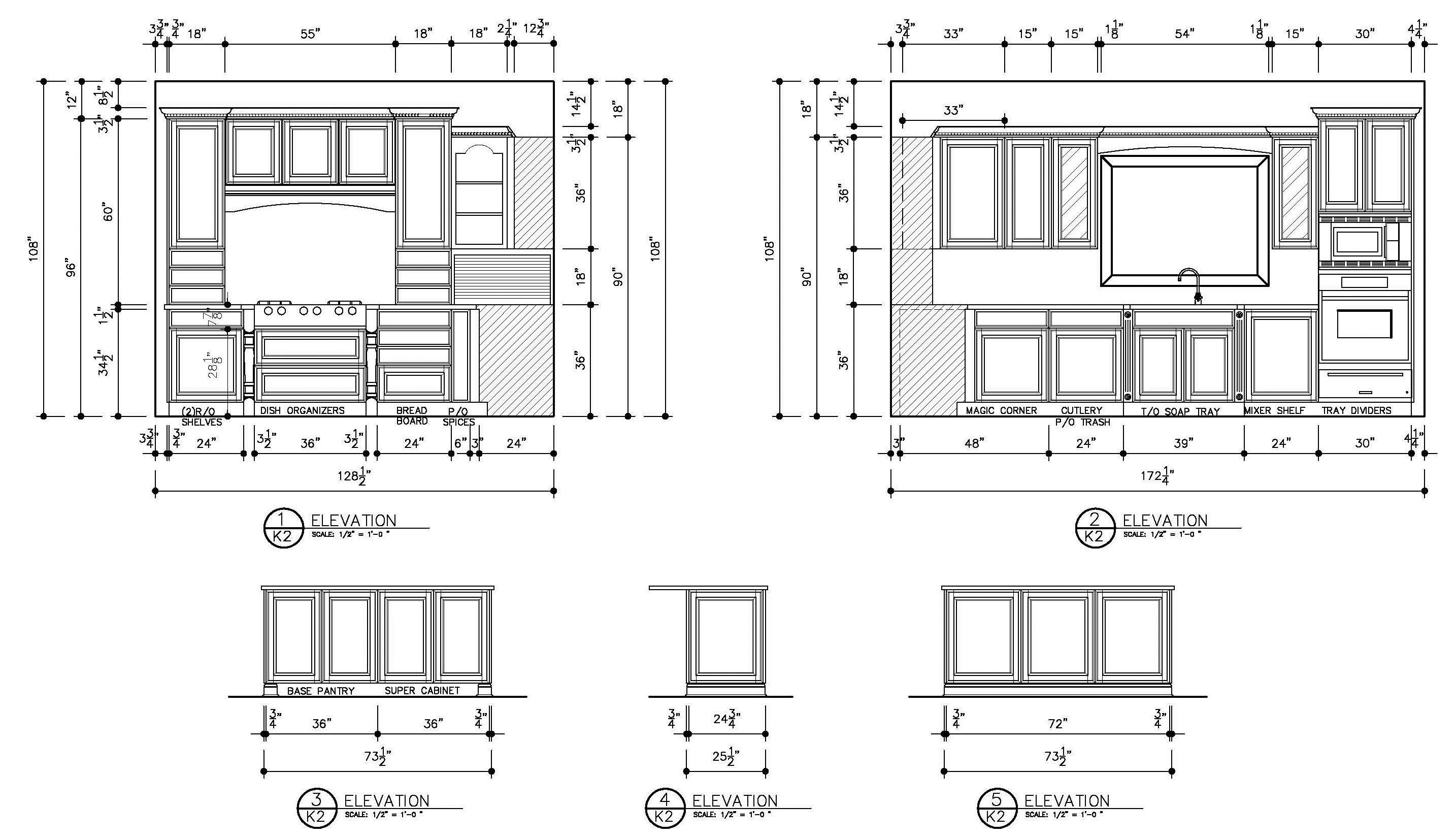 Cabinet Sliding Door Detail Drawing