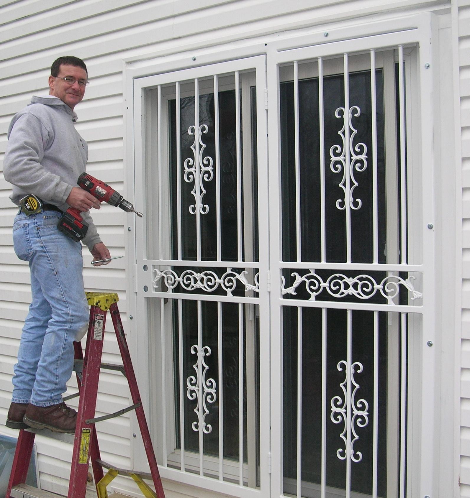 metal security doors for sliding glass