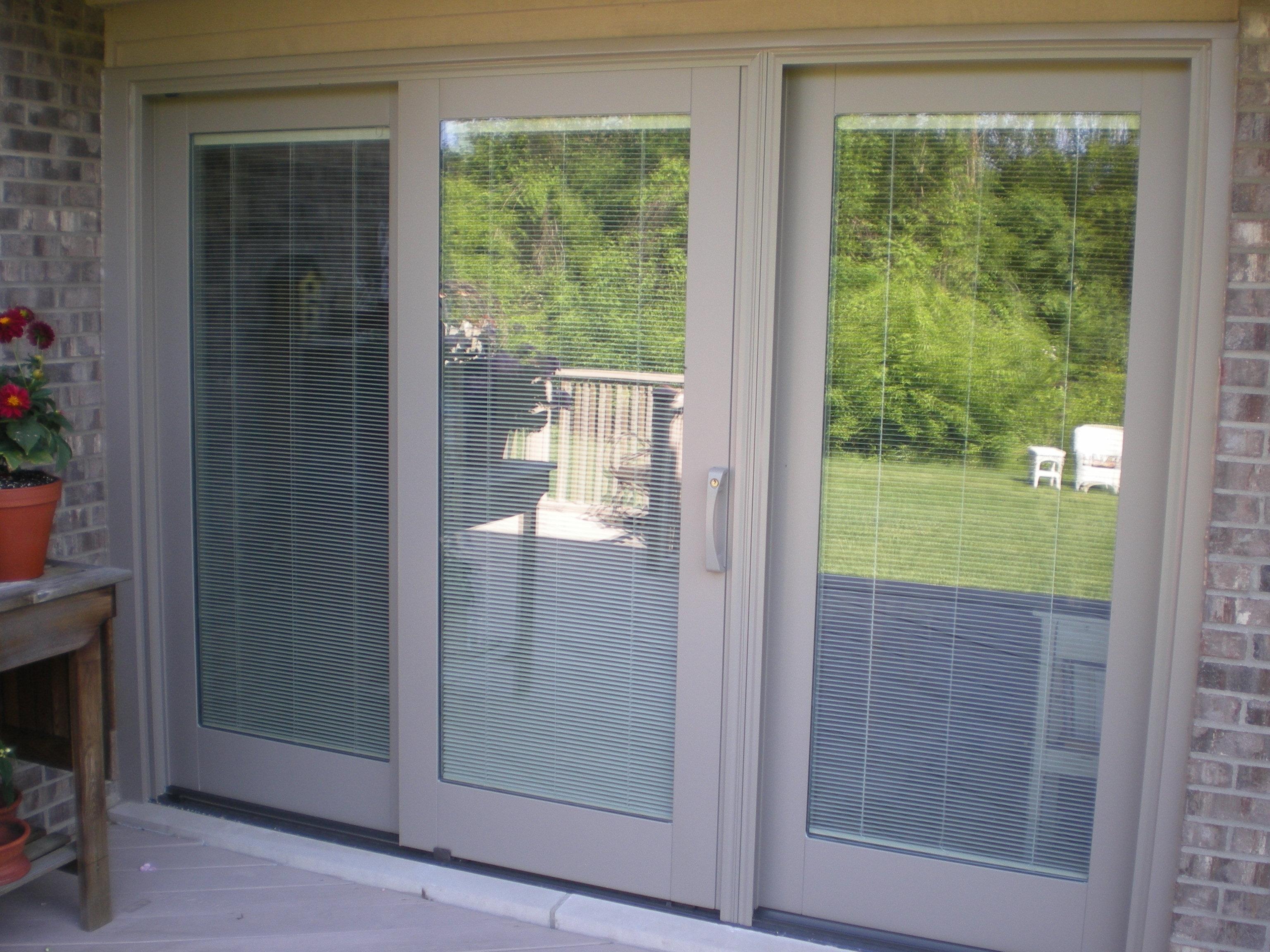 pella 350 sliding door with blinds