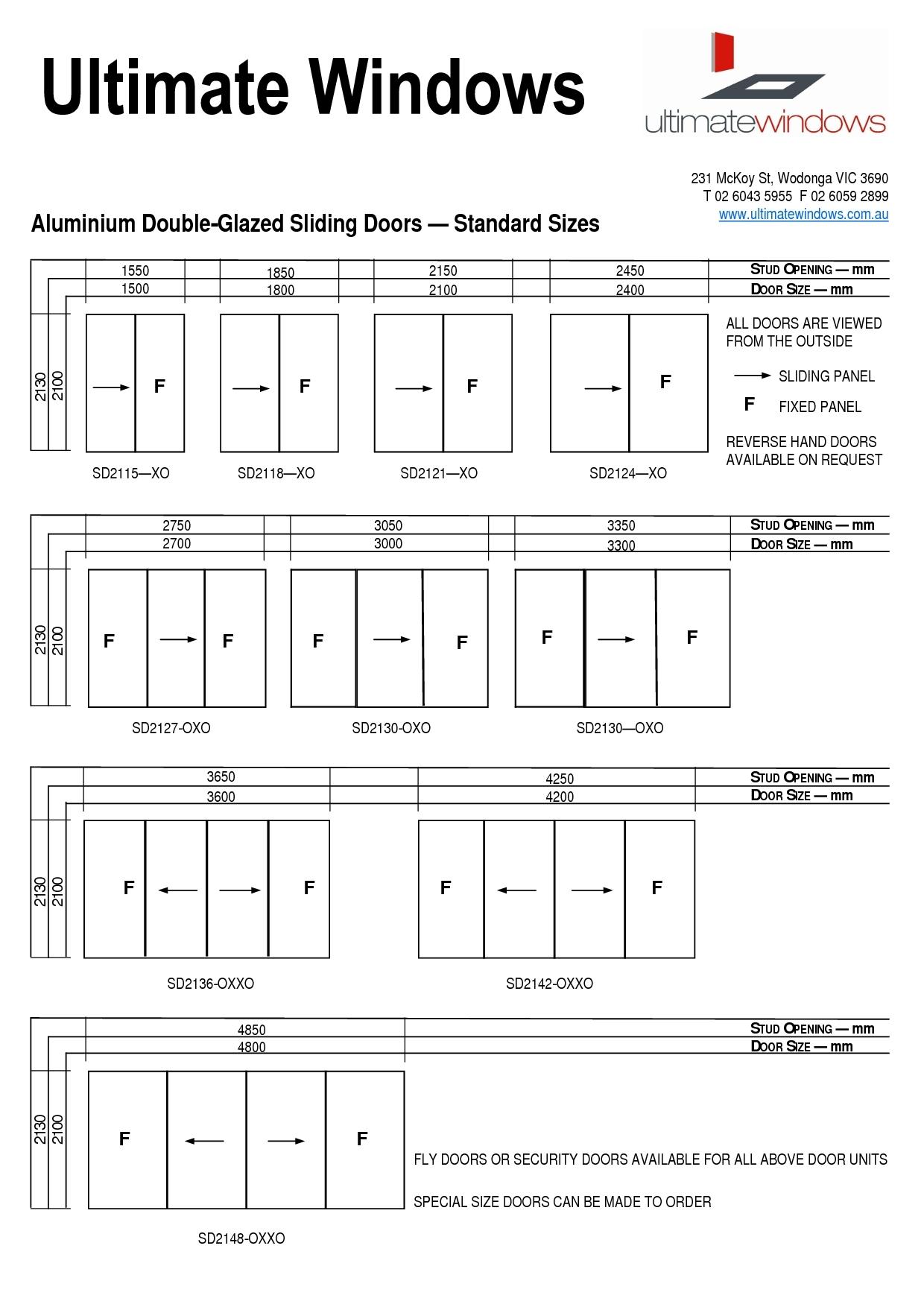 sliding closet door opening size