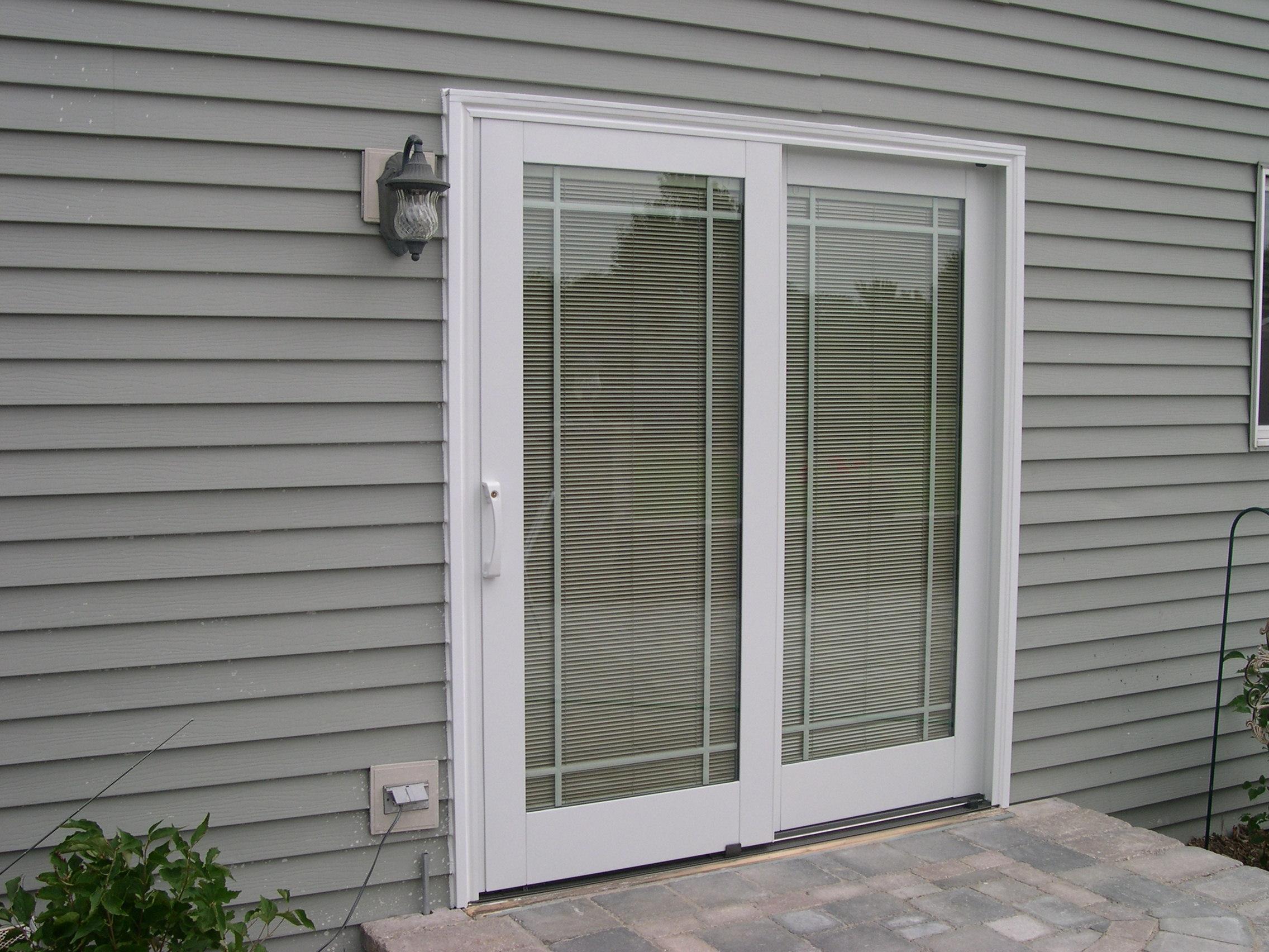 pella sliding patio door with blinds