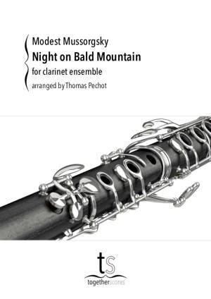 klarinet ensemble partituur Een nacht op de Kale Berg Moessorgski