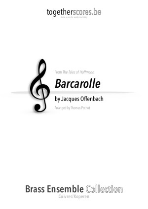 5 parts ensemble saxofoon klarinet koper partituren barcarolle offenbach