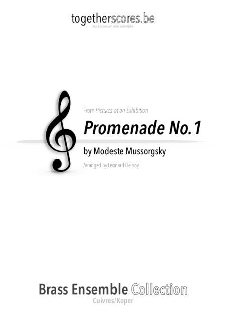 koper ensemble partituur bladmuziek promenade moessorgski