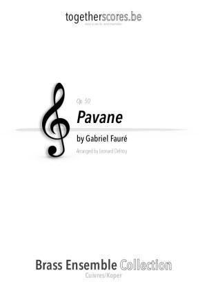 koper ensemble partituur bladmuziek pavane faure