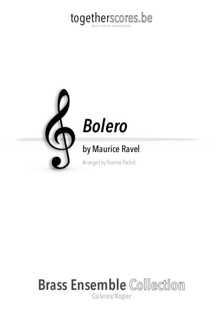 partition cuivres ensemble bolero ravel