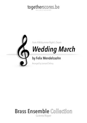 koper ensemble partituur bladmuziek wedding march mendelssohn
