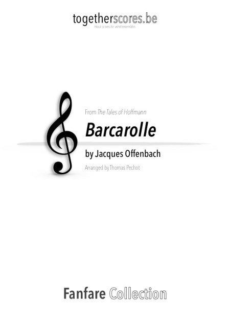 partitions fanfare barcarolle offenbach