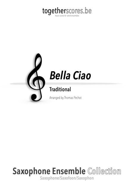 saxofoon ensemble partituur bladmuziek bella ciao