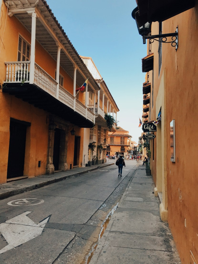 Walking through the Centro Historico in Cartagena, Colombia