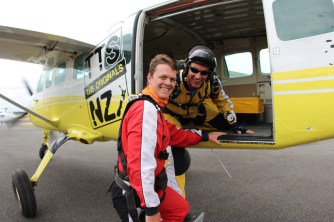 Ready to fly with Taupo Tandem Skydive
