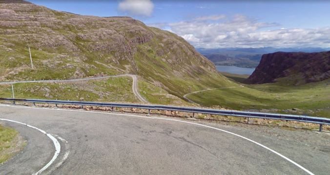 Just one of the winding roads on Scotland's NC500