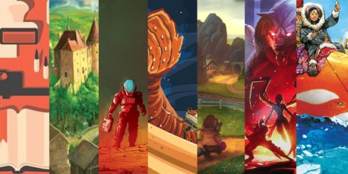 A collage of games we've played recently