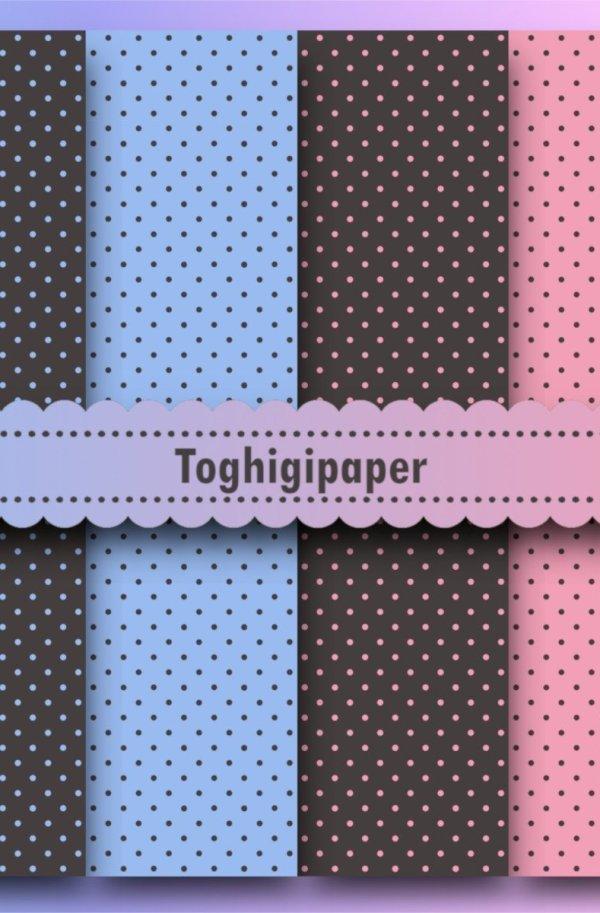 Sfondi e patterns-Pois rosa, celesti, grigi