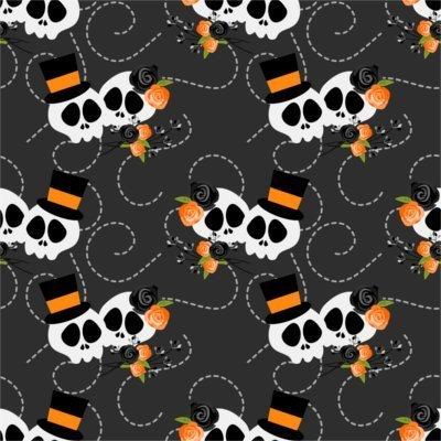 Sfondo Halloween teschi love 2
