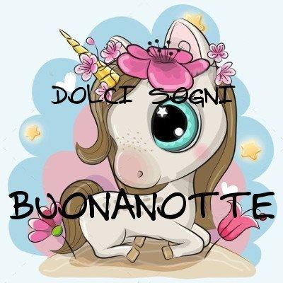 buona notte tenero unicorno immagini gratis WhatsApp nuove bacionotte dolci sogni