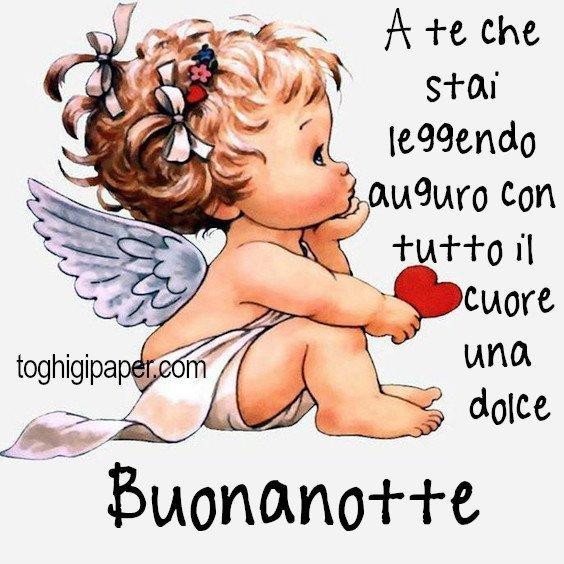 buonanotte angeli immagini nuove gratis WhatsApp Facebook bacionotte dolci sogni