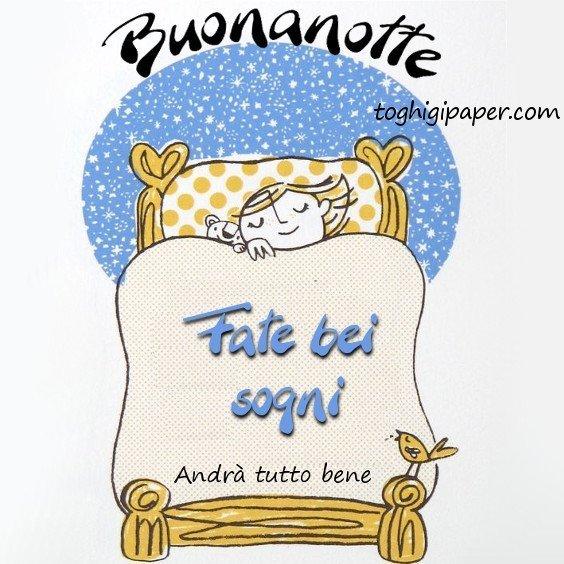 buonanotte Italia andrà tutto bene immagini gratis WhatsApp nuove bacionotte dolci sogni
