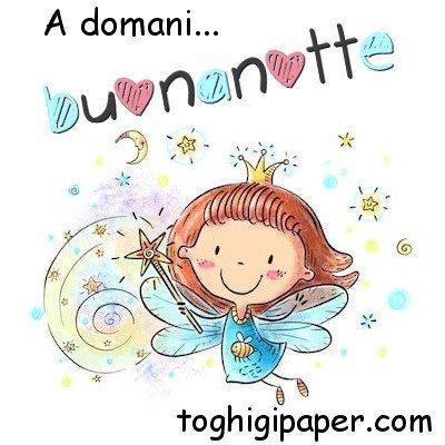 A domani buonanotte fata immagini gratis WhatsApp nuove bacionotte dolci sogni per WhatsApp, Facebook, Pinterest, Instagram, Twitter