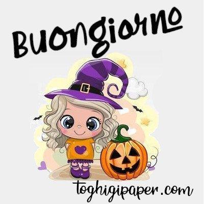 Buongiorno halloween immagini nuove gratis whatsapp facebook Instagram Pinterest