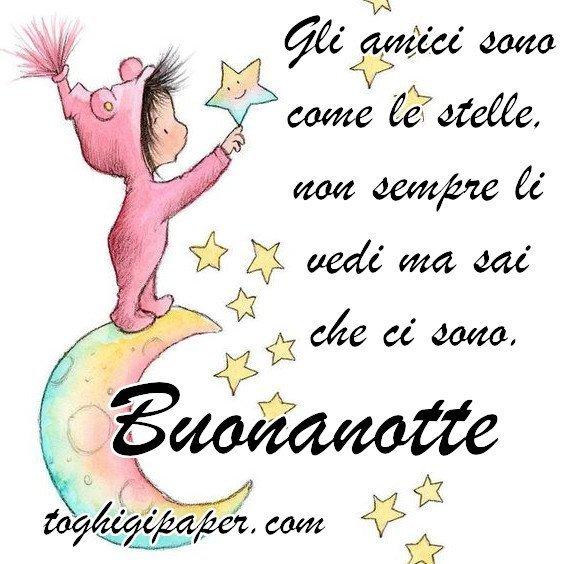 Stella buonanotte immagini gratis WhatsApp nuove bacionotte dolci sogni per WhatsApp, Facebook, Pinterest, Instagram, Twitter
