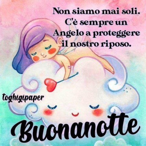 Angeli buonanotte frasi immagini gratis WhatsApp nuove bacionotte dolci sogni per WhatsApp, Facebook, Pinterest, Instagram, Twitter