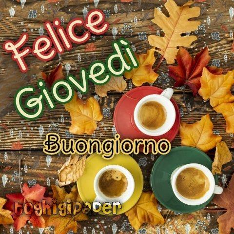 Giovedì autunno buongiorno, immagini nuove gratis per WhatsApp, Facebook, Instagram, Pinterest, Twitter