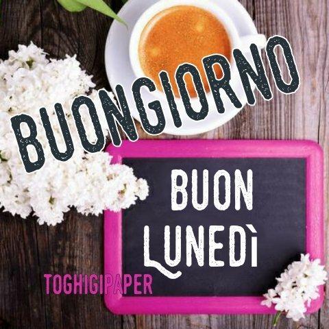 Lunedì caffè buongiorno nuove e belle immagini gratis per WhatsApp, Facebook, Pinterest, Instagram, Twitter