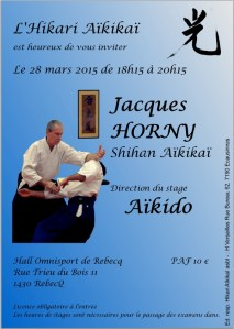 Stage Jacques Horny mars 2015