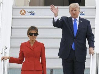 couple TRUMP Mélania et Donald Trump sont à Paris