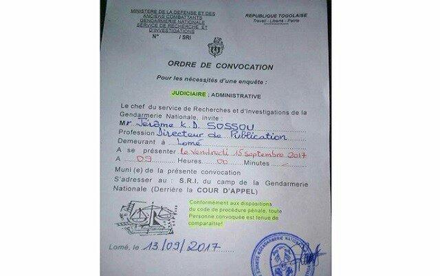 wp image 688186141 Togo : un journaliste convoqué au SRI ce vendredi