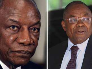 """alpha conde """"Tais-toi là bas!""""- Alpha Condé au ministre Boukpessi"""