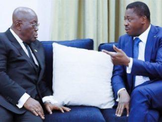 faure et nana akufo addo Soutien à un candidat: une mission secrète de Akufo Addo au Togo crée la zizanie