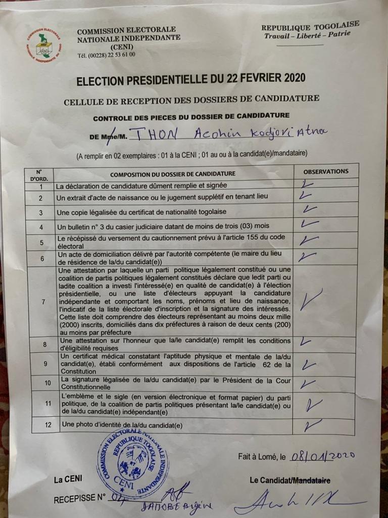img 20200117 wa00866035262431858334181 Candidature invalidée: preuves à l'appui, Kodjovi Thon sonne la riposte [Documents]
