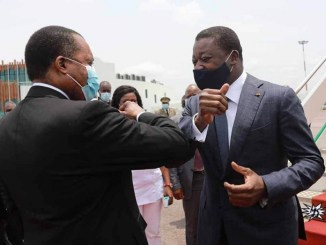 Faure et Sassou Faure chez Sassou: les « à-côté » de la visite !