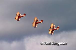 16/07/2016. Farnborough International Airshow. Breitling Wingwalkers