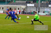 22/10/2016. Guildford City v North Greenford United. City's Mike DIXON shoots