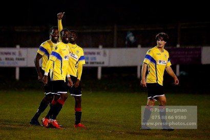 6/12/2016. Farnham Town v Guildford City FC. Leon Lalor-Dell scores City's second