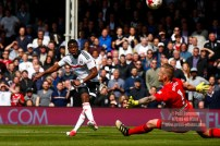 29/04/2017. Fulham v Brentford. Fulham's Floyd AYITE shoots over the bar