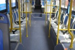 座るのが難しい中国のバスの座席