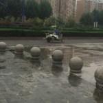 中国の車止めのにわかアートが衝撃的