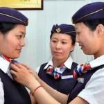 中国のキャビンアテンダントな看護師さん