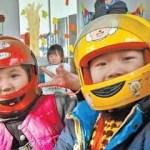 头盔 ー 中国ではノーヘルでバイクに乗ると罰金なので とにかく何か被ります