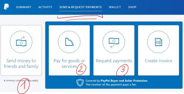 chuyển/nhận tiền trong paypal