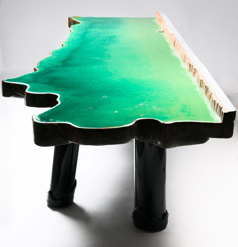 six tables on water/ gaetanopesce
