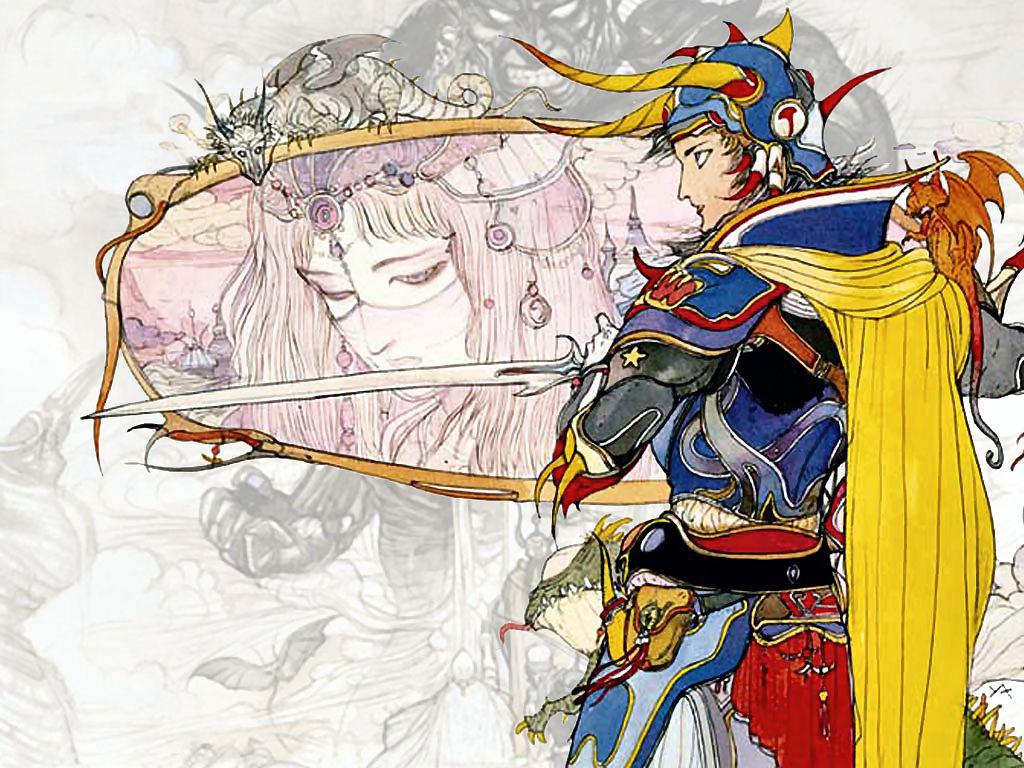 Final Fantasy I art by Yoshitaka Amano