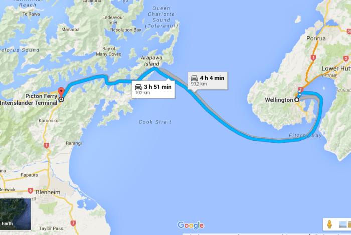mapa atravessia viajar de carro pela nova zelandia to indo viajar