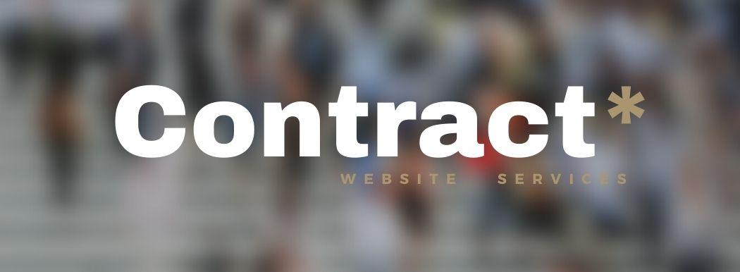 Contract Website Service, Package, Website design, Logo design, leaflets, Social Media, Full Service