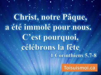 1 Corinthiens 5.7-8
