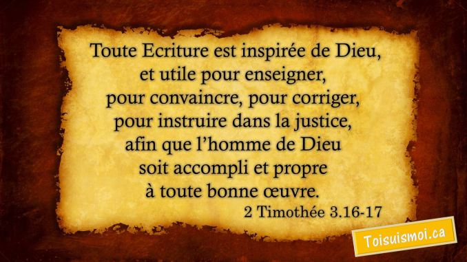 2 Timothée 3.16-17